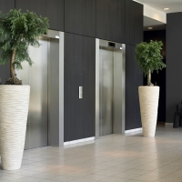 Lift Waiting area decorated with plants